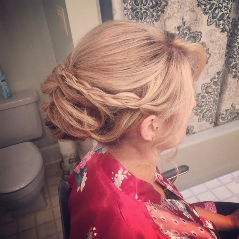 Moment from: 09-30-2017 that mentions Alicia of  Fringe.Salon - Pigeon Forge, TN. This image is part of our Wedding Styling/Updo Portfolio Section.